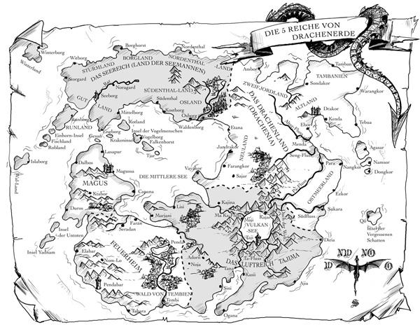 Karte von Alfred Bekker der 5 Reiche