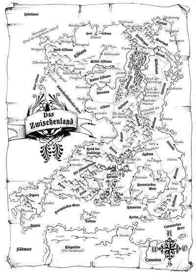 Offizielle Karte des Zwischenlands der Elben