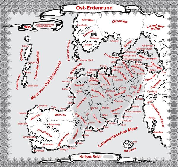 Offizielle Karte des Ost-Erdenrunds