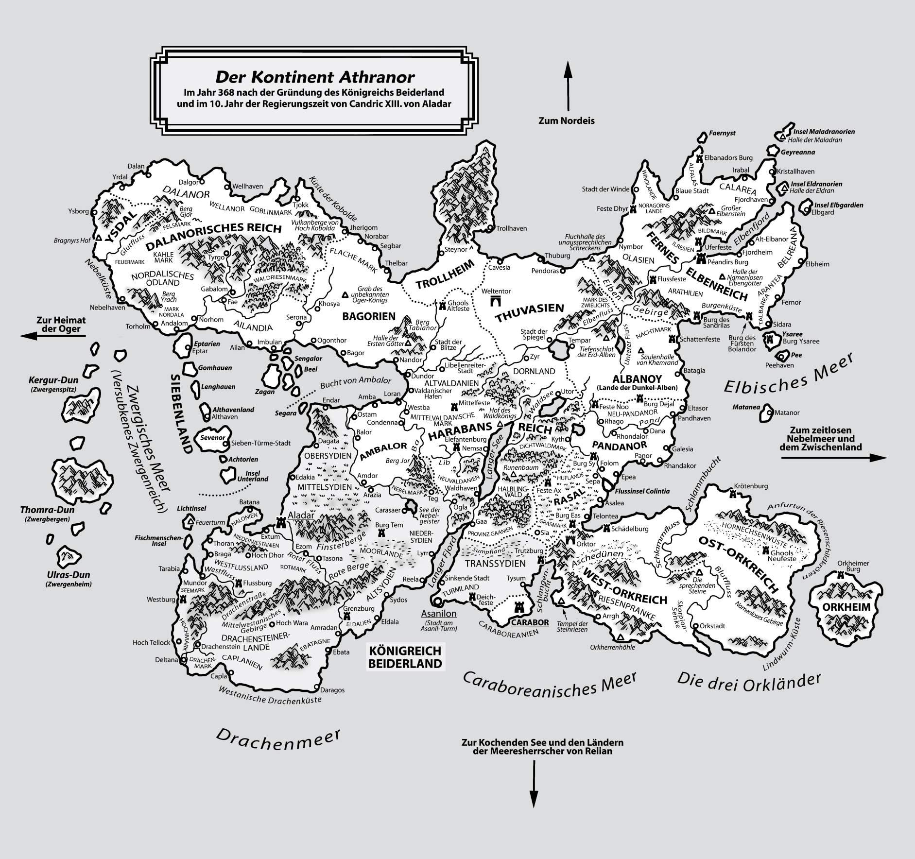 Die Zwerge Karte